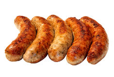 Fried sausages  isolate Royalty Free Stock Image