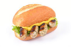 Fried sausages in a roll Stock Photography