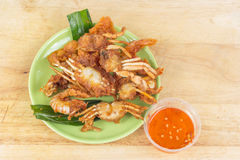 Fried sea food shim Stock Photography