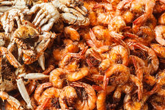Fried seafood Royalty Free Stock Images