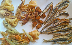 Fried Seafood Delicacy Royalty Free Stock Photos
