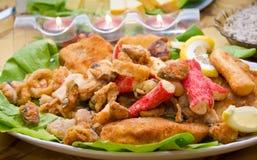 Fried seafood stock photos