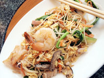 Fried seafood noodles. Stock Image