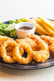 Fried Seafood Platter imagem de stock royalty free