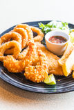 Fried Seafood Platter photo stock