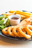 Fried Seafood Platter fotografia de stock royalty free