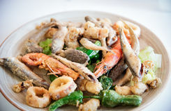 Fried seafood . Royalty Free Stock Photography