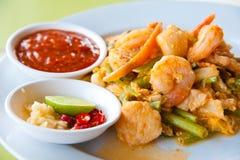 Fried Seafood Sukiyaki In Thai Style Royalty Free Stock Photography