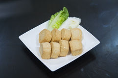 Fried Seafood Tofu for Steamboat Royalty Free Stock Photography