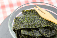 Fried seaweed. Royalty Free Stock Images