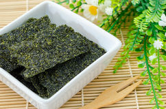 Fried seaweed. Royalty Free Stock Image