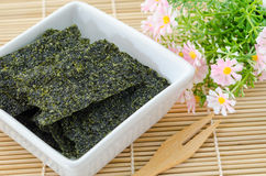 Fried seaweed. Stock Images