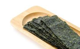 Fried seaweed. Royalty Free Stock Photo