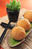 Fried sesame ball. Chinese food fried sesame glutinous ball royalty free stock image