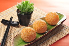Fried sesame ball Stock Image