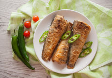 Fried shad Royalty Free Stock Images