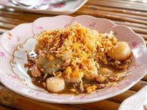 Fried Shell avec l'ail, fruits de mer de phung de la CE, restaurant, rayoung, Thaïlande images libres de droits