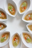 Fried shellfish with vegetable in oyster sauce Stock Image