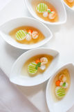 Fried shellfish with vegetable in oyster sauce Stock Images