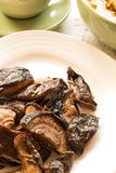 Fried shiitake mushrooms Stock Photos