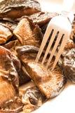 Fried shiitake mushrooms Stock Images