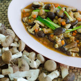 Fried shiitake mushrooms Stock Photos