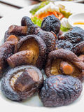 Fried shiitake mushrooms Royalty Free Stock Photos