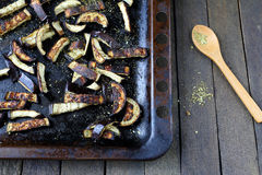 Fried shredded eggplant Royalty Free Stock Photos