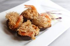 Fried shrimp Stock Images
