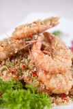 Fried shrimp Royalty Free Stock Photo