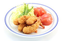 Fried shrimp. I took a picture because it was very delicious fried shrimp Royalty Free Stock Photos