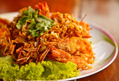 Fried shrimp. For meal time Royalty Free Stock Image