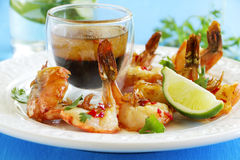 Fried shrimp Stock Photo