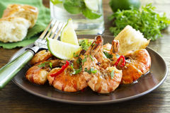 Fried shrimp Stock Images