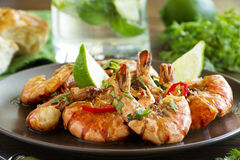 Fried shrimp Stock Photography