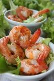 Fried shrimp as a starter Stock Images