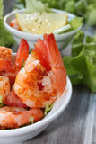 Fried shrimp as a starter Royalty Free Stock Photo