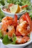 Fried shrimp as a starter Royalty Free Stock Photos
