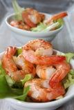 Fried shrimp as a starter Stock Photo