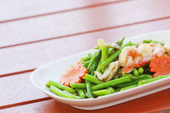Fried shrimp with asparagus is a kind of Thai cuisine It is not Stock Images