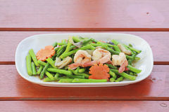 Fried shrimp with asparagus is a kind of Thai cuisine It is not Royalty Free Stock Images
