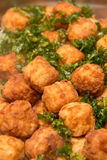 Fried Shrimp Balls Asian Food Stock Photo