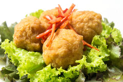 Fried Shrimp Balls profond Photographie stock