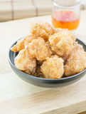 Fried Shrimp Balls profundo Imagem de Stock