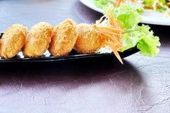 Fried shrimp cake Royalty Free Stock Images