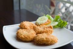 Fried shrimp cake Royalty Free Stock Photo