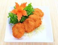 Fried Shrimp Cake Stock Photo