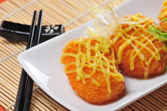 Fried shrimp cake Stock Photos