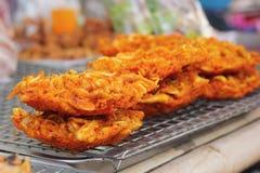Fried Shrimp Cake in the market Stock Photos