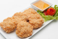 Fried shrimp cake Royalty Free Stock Photos